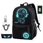 DOLIROX® Cool Boys Outdoor Backpack Anime Luminous Backpack Daypack Shoulder School Bag Laptop Bag - childrens-backpacks
