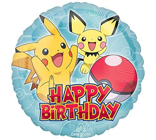 (Amscan International 3633301Pokemon Folienballon Happy Birthday)