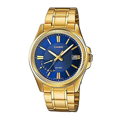 CASIO MTP-E115GB-2AV - Reloj de caballero analógico. Acero inoxidable