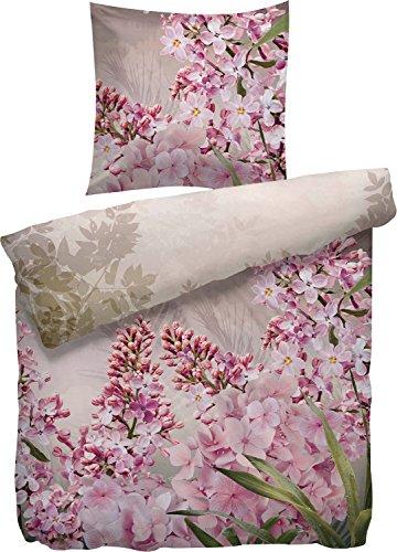 Heckett & Lane Mako-Satinbettwäsche Blossom 135x200 cm 80x80 Farbe multi (Lane Blossom)