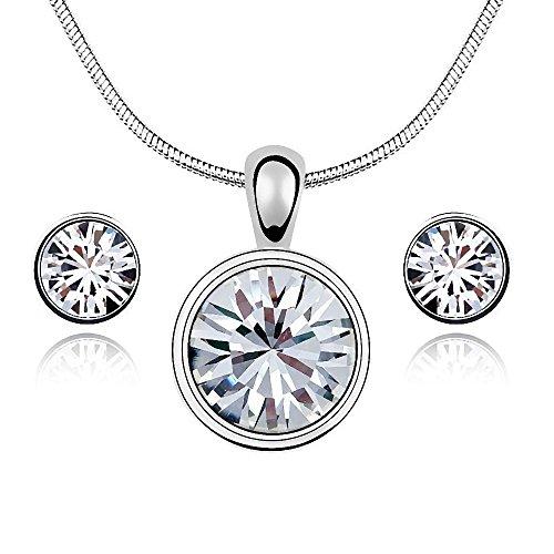 Gepardini White Diamond Glamour Set mit SWAROVSKI Kristalle - Handarbeit, hochglanzpoliert