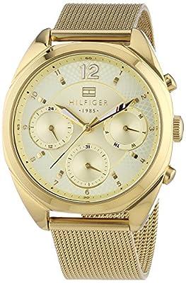 Reloj para mujer Tommy Hilfiger 1781488, mecanismo de cuarzo, diseño con varias esferas, correa chapada en oro. de Tommy Hilfiger