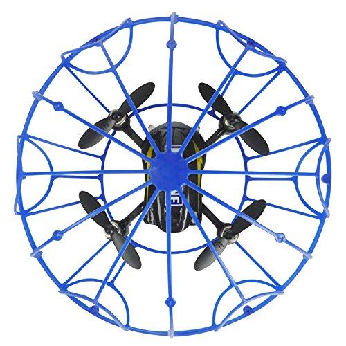FPS RTF Bundle: Rayline RX3, Schwarz, 2.4G RC NANO Drohne Training Mini Quadrocopter, Trainingsdrohne mit Käfig, Übungsdrohne, 6 Achsen Gyro, flexibler Schutzkäfig, 3D Flips, inkl. Akku & 3xAA - 5