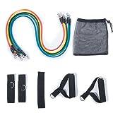 DXP Resistance Bands Fitnessbänder Set- 5 Widerstandsbänder aus Latex, Griffe,Türanker &...