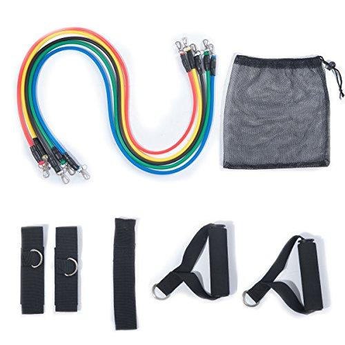 ZNL Resistance Band Widerstandsbänder Trainingsband Fitnessbänder Set mit Griffen für Yoga und Workout DLLS01