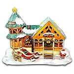 Feliz Navidad 3D Puzzle Set entretenimiento 4 piezas un paquete (Techo verde)
