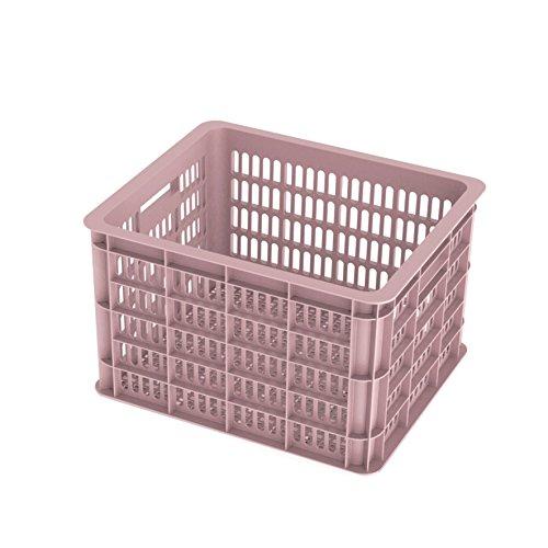 Basil Unisex- Erwachsene Crate M Fahrradkasten, Pink, 40 cm x 33 cm x 25 cm