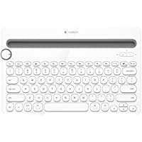 Logitech K480 Multi Device Bluetooth Keyboard for PC, Smartphone and Tablet - White