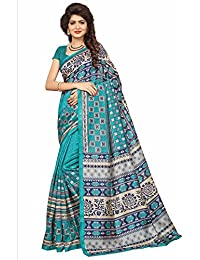 Ishin Mysore Art Silk Blue Printed Party Wear Wedding Wear Casual Wear Festive Wear New Collection Latest Design...