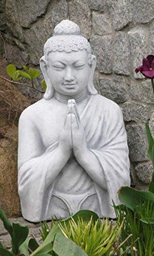 Buddha betend (S101059) Gartenfigur Skulptur Statue Steinguss Betonguss 54 cm