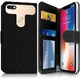 KARYLAX Etui Portefeuille Noir (Ref.4-C) pour Smartphone Logicom Le Hello 5' 4G