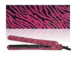Bebella Luxury Wild Collection: Professional 1.25 Pure Onyx Ceramic Plates Hair Straightener Flat Iron (Pink Zebra)