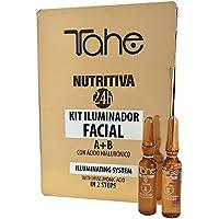 Tahe Kit Iluminador Facial Nutritiva 24H Sistema Iluminador en 2 Pasos con Ácido Hialurónico, 2 x 2 ml