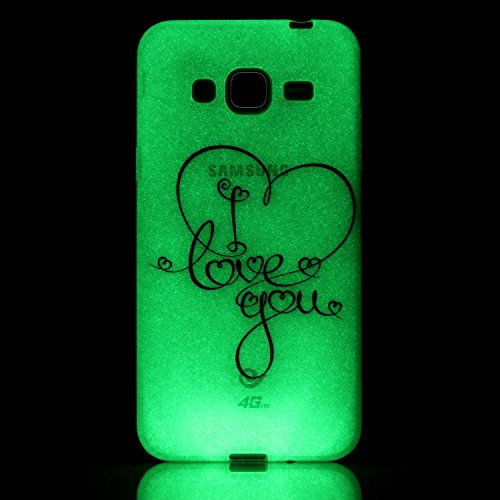 XiaoXiMi iPhone 6/6S TPU Hülle Luminous Silikon Schutzhülle für iPhone 6/6S mit Bunte Muster Soft Slim Gel Rubber Case Cover Leichte Glatte Schale Ultra Dünne Schlanke Tasche Flexibel Weiche Hülle Ant Love You