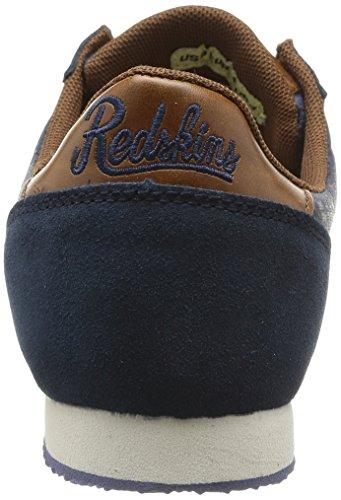 Redskins Discor, Baskets mode homme Bleu (Marine/Marron)