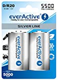6 x everActive Silverline MONO min. 5000 mAh Akku D Mono Zelle LR20 MN1300 NIMH