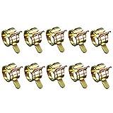 GOOTRADES 10 Stücke 9mm Federband Typ Kraftstoff Vakuumschlauch Silikon Rohrklemme Clip Rohr Schellen Kraftstoffleitung Schlauchschellen Wasserrohr Luftschlauch Vakuum Schlauchschelle