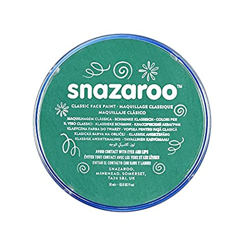 Snazaroo Face and Body Paint, 18 ml - Teal (Individual Colour)