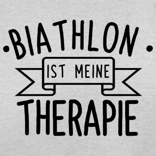 Biathlon ist meine Therapie - Herren T-Shirt - 13 Farben Hellgrau