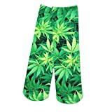 Chaussettes De Marijuana Naturel Feuille Vert Foncé Jersey Femmes Vogue Tube Court