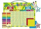 Magnetische Belohnungstafel, Magnet Arbeit Diagramm Gute Verhalten Diagramme für Kinder mit 3Trocken abwischbare Marker und Schlaufe Zum Aufhängen, 40x 30cm