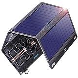VITCOCO Caricabatterie Solare Portatile, 29W Pannelli Solari Dual-Port USB Impermeabile Portatile Pannello Solare Pieghevole per Smartphone, Tablet, Alimentazione Mobile etc.