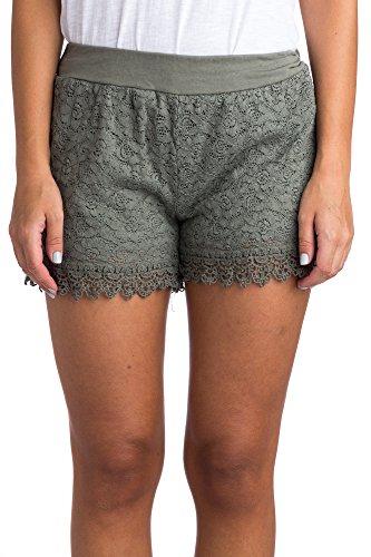 Abbino 160614KH Kurze Hose Short Damen - Made in Italy - 7 Farben -  Komfortabel Junge Schöner Mode Trend Damenshorts Übergang Herbst Winter  Charme