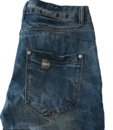 Eight2Nine Jeans Short Herren Jeans Bermuda Vintage Style Shorts 5 Pocket Hose Outback Style by 98-86 Denim Blue