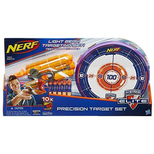 Nerf - Lanzadardos con Diana y Dardos N-Strike, 52 x 29 cm (Hasbro A9535EU40)