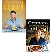 Gennaro slow cook italian and jamie cooks italy 2 books collection set