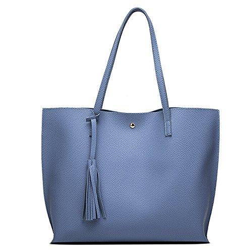 90554de5d5ee9 LMRYJQ Damen Handtasche Shopper Handtasche groß taschen Mode Frauen Mädchen  Quasten Ledertasche.