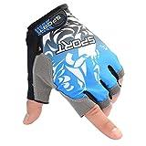 VORCOOL UV Schutz Angeln Fingerlose Handschuhe Anti-Rutsch-Angeln Handschuhe für Radfahren Klettern Angeln Reiten Kajak Größe M (Blau)