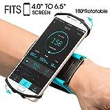 VUP Brassard 180° Rotation de Sport pour Smartphone Bracelet pour iPhone X/8/7 Plus/6/6s, Samsung Galaxy S8/S7/S6 Huawei (Bleue)