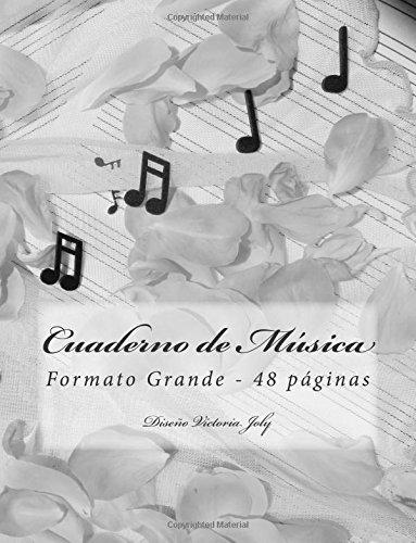 Cuaderno de Musica Formato Grande 48 paginas: Diseno Original Tipo 9