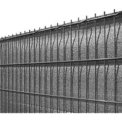 Koll Living Sichtschutz für Stabmattenzäune, anthrazit, 180x500cm - aus reissfestem HDPE - passend für Ein- & Doppelstabmattenzaun - perfekter Wind- & Sonnenschutz