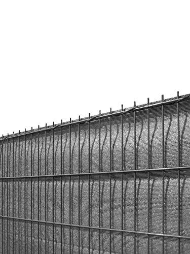 Koll Living Sichtschutz für Stabmattenzäune, anthrazit, 140x500cm - aus reissfestem HDPE - passend für Ein- & Doppelstabmattenzaun - perfekter Wind- & Sonnenschutz