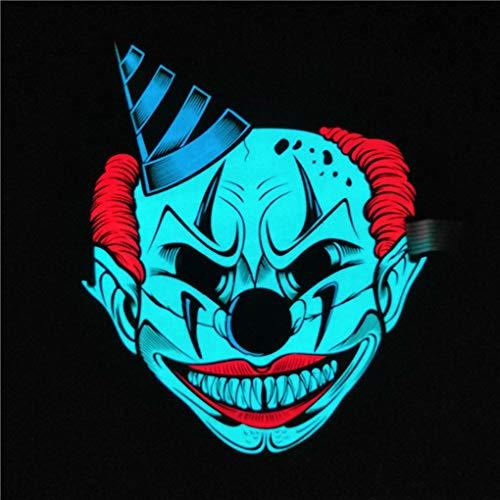 -Masken Kleidung Big Geist Masken Cold Light Festival-Party-glühende Stimme Sensor Prop ()