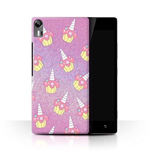 Stuff4® Hülle/Case für Lenovo Vibe Shot/Z90 / Rosa Cupcake/Kuchen Muster/Einhorn/Unicorn Kollektion