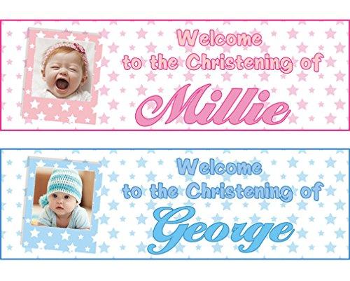 (fancyprint 2 x Personalisierte Geburtstagsbanner Namen Sterne Erwachsene Kinder Kinderzimmer Kinderparty Plakat Dekoration)
