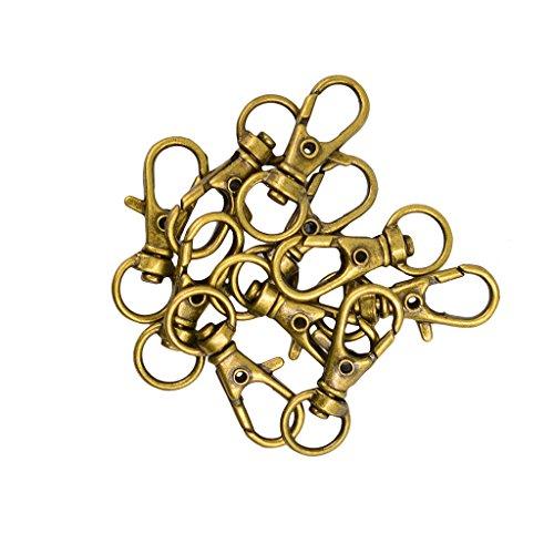 10pcs Porte-clés Mousquetons pour Artisanat Connecteur Fermoir Collier Bracelet-32x12mm
