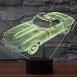 Led-nachtlicht-scheinwerfer 3D Kinder Touch-Taste Led Visuelle Sportwagenform Convertible Nachtlicht