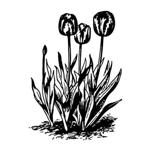 liancany, timbro trasparente in silicone a forma di tulipano, fai da te, scrapbooking, album fotografico, goffratura