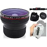 Opteka .20X HD Super AF Fisheye Lens With Microfiber Cloth For Nikon D5, D4, D3x, Df, D810, D800, D750, D610, D500, D7200, D7100, D7000, D5500, D5300, D5200, D5100, D3300 And D3200 Digital SLR Cameras
