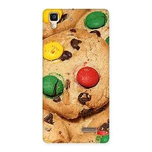 Lovely Cookies Design Back Case Cover for Oppo R7