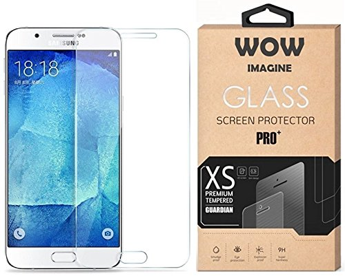 WOW Imagine™ Pro HD+ 9H Hardness 2.5D 0.3mm Toughened Anti-Explosion Tempered Glass Screen Protector for Samsung Galaxy Smartphone J7 Prime, SM-G610F (Retail Packaging - Transparent)