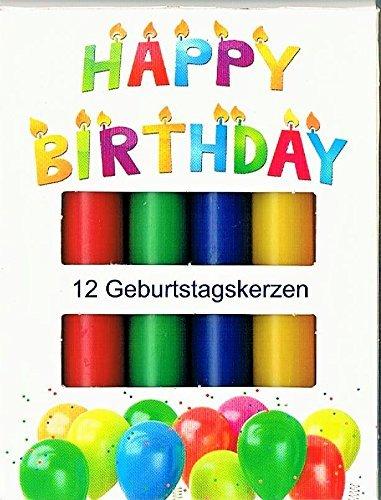 Kcb Kerzen.Velas De Cumpleaños 12er Colores 13 X 96 Mm