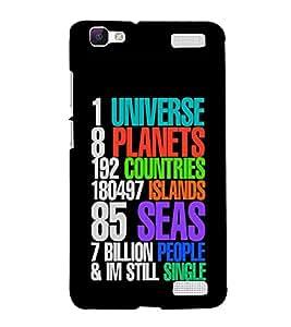 Print Masti Designer Back Case Cover for Vivo V1 Max (Universe Planet country Island )