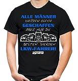 LKW Fahrer T-Shirt | Over The Top | Kraftfahrer | Laster | Fernfahrer | Trucker | Männer | Herren | Beruf | Papa | Opa | Geschenk (M, Schwarz)