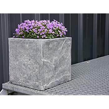 Blumenkübel ROCKS 50x50x50cm aus Fiberglas wie orig. Naturgestein, Pflanzkübel, Pflanzgefäße, Pflanztopf