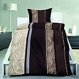 Bettenset Zubehör 4-Teilige leichte Microfaser-Bettwäsche Choco Leaves 2x 135x200 Bettbezug + 2x 80x80 Kissenbezug